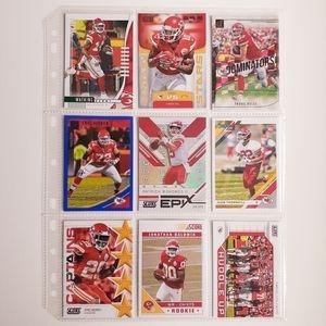 Kansas City Chiefs 9 Card Lot [FBL16_1]